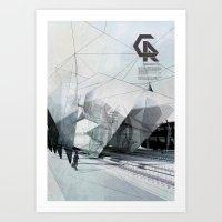 The Caravansary Rail Art Print