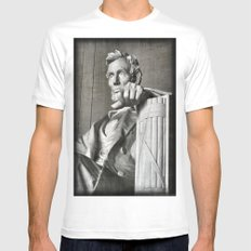 Honest Abe SMALL Mens Fitted Tee White