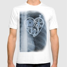 bike lover X-ray SMALL White Mens Fitted Tee