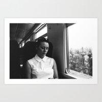 genoa to portofino by rail Art Print
