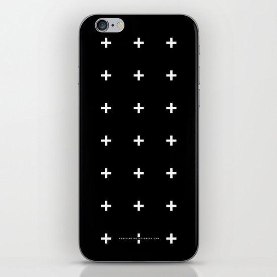 White Plus on Black /// www.pencilmeinstationery.com iPhone & iPod Skin