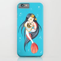 mermaid iPhone & iPod Cases featuring Mermaid by Freeminds