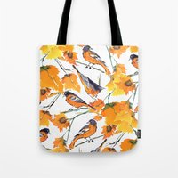 Birds in Autumn Tote Bag