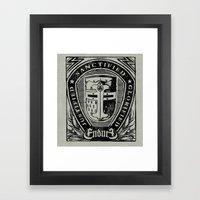 JUSTIFIED CRUSADER Framed Art Print