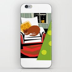 Christmas cat iPhone & iPod Skin