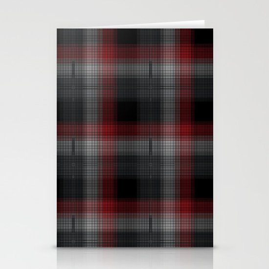 Black, Red, Lumberjack Plaid Stationery Card