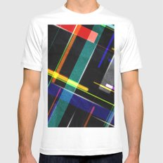 Line Pattern SMALL White Mens Fitted Tee
