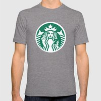 Selfie - 'Starbucks ICONS' Mens Fitted Tee Tri-Grey SMALL