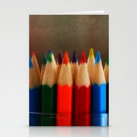 Rainbow Crayons Stationery Cards