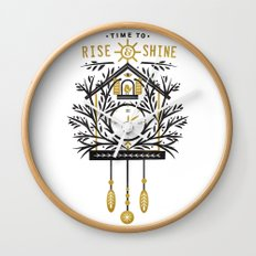 Time to Rise and Shine Wall Clock