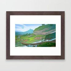Distant Land Framed Art Print