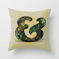 Ampersand Series - Cooper Std Typeface Throw Pillow