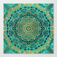 Blue Topaz Mandala Canvas Print