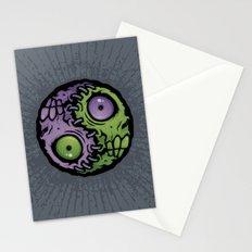 Zombie Yin-Yang Stationery Cards