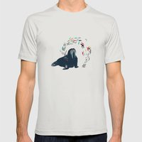 Walrus. Mens Fitted Tee Silver SMALL