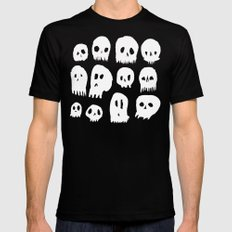 Spooky Skulls Mens Fitted Tee Black SMALL