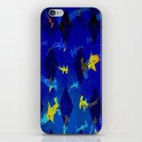 Argyle Frenzy in Lapis iPhone & iPod Skin