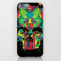 iPhone & iPod Case featuring HowlinSkull by UvinArt