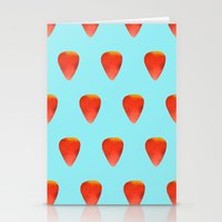 Strawberry Pattern Stationery Cards