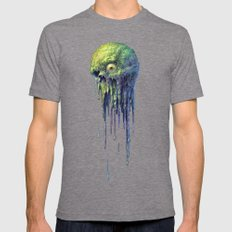 Slime Ball Mens Fitted Tee Tri-Grey SMALL