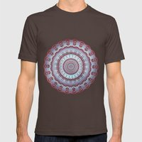 Pastel Shades Symmetries Mens Fitted Tee Brown SMALL