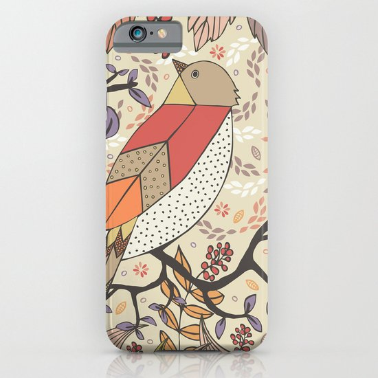 Singing Red Bird iPhone & iPod Case