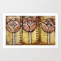 Three Blooms Art Print