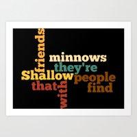 Minnows Art Print