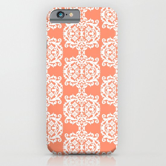 Behind Damask - Peach iPhone & iPod Case