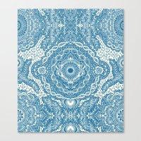 Rain In The Garden - Blu… Canvas Print