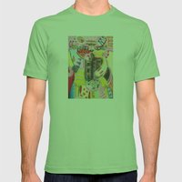 Lucky Cat Mens Fitted Tee Grass SMALL