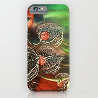 iPhone & iPod Case featuring Chinese Lantern, Winter Cherry by Dana Martin