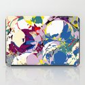 circle color fractures iPad Case