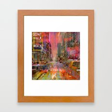 Traffic Jam Pink Framed Art Print