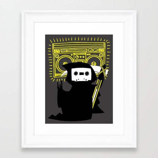 Death Mixtape Framed Art Print