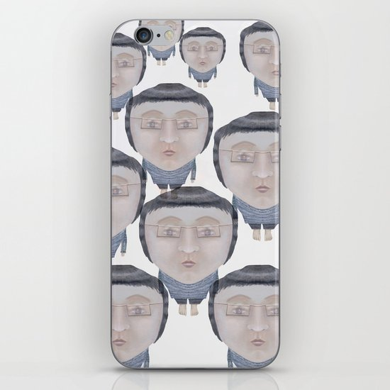 Portrait : Cold Feet iPhone & iPod Skin