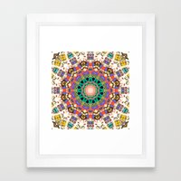 Colorful Concentric Abst… Framed Art Print
