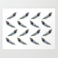 Art Print featuring The Peacock's Feather Pa… by ECMazur