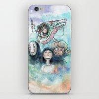 Spirited Away Watercolor… iPhone & iPod Skin