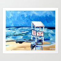 Ocean City Lifeguard Sta… Art Print