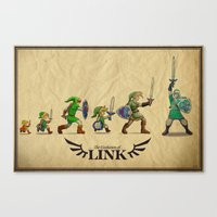 The Evolution of Link Canvas Print