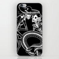 ZAPATEADO ON BLACK iPhone & iPod Skin
