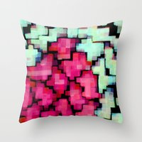 Color puzzle Throw Pillow
