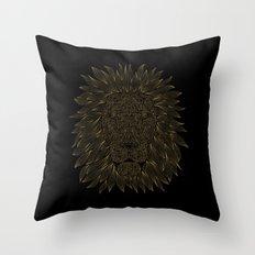 Lion / Black Throw Pillow