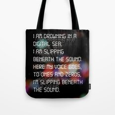 Drowning in the Digital Sea Tote Bag