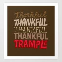 Thanksgiving, Black Frid… Art Print