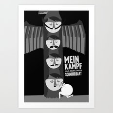 If Hitler made a Totem pole, I think it would of looked a little like this... Art Print