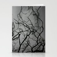 Spooky Halloween, Winter, Black and White Stationery Cards