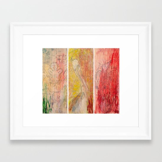 The Unborn, The Living, The Dead Framed Art Print