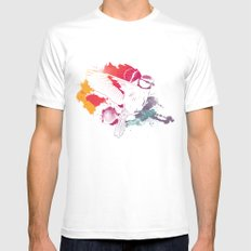 Bird of Colour SMALL White Mens Fitted Tee